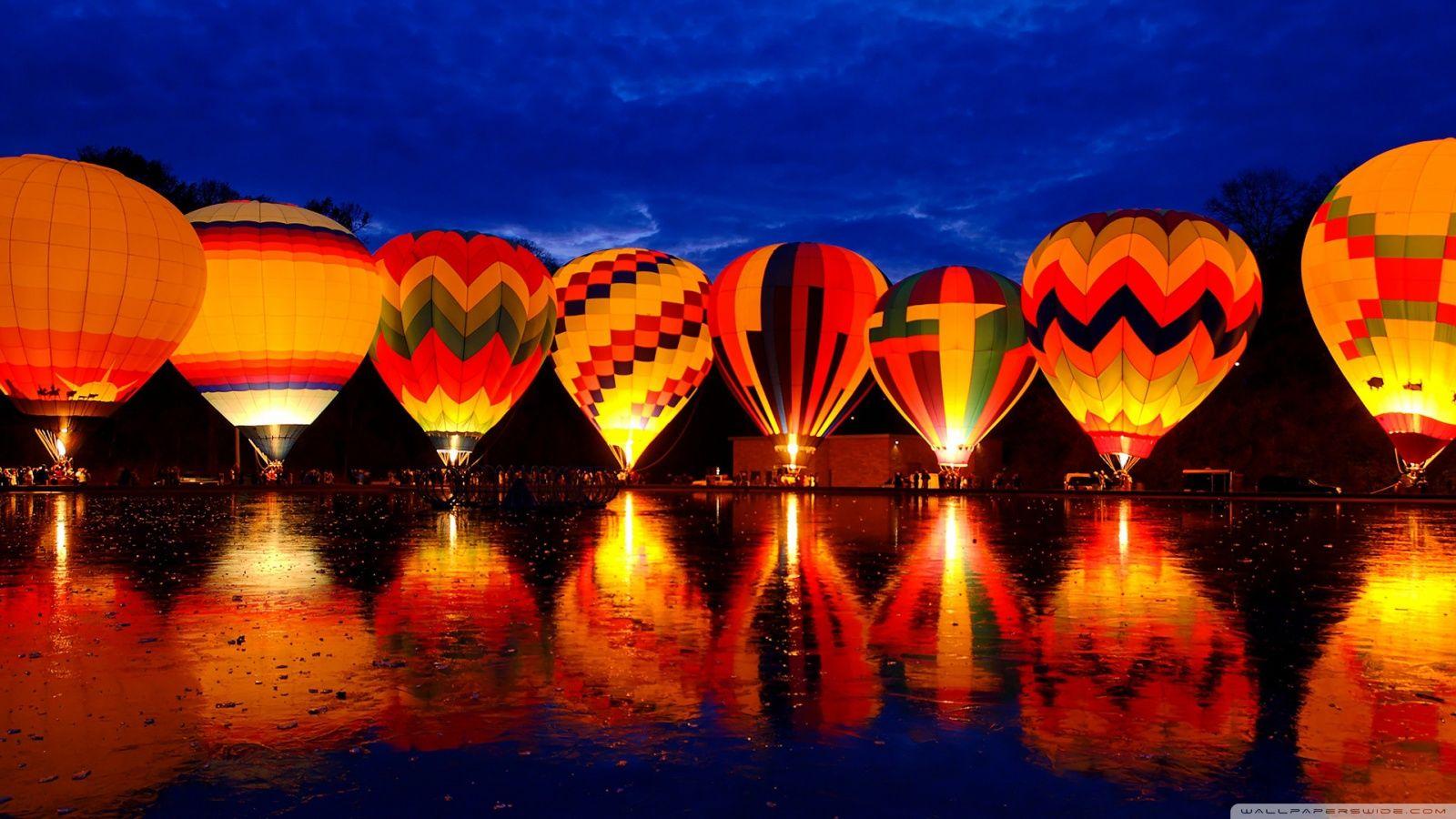 Hot Air Baloon Travel Background Jpg 1600 900 Hot Air Balloon Festival Balloon Glow Air Balloon