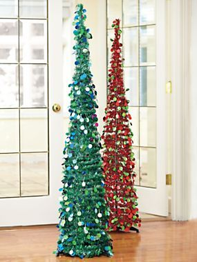 slim tinsel pop up tree space saving artificial christmas tree solutions