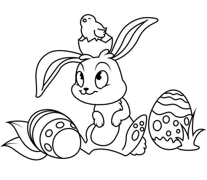 1001 + idées de coloriage de Pâques facile à imprimer en 2020 | Coloriage paques, Coloriage
