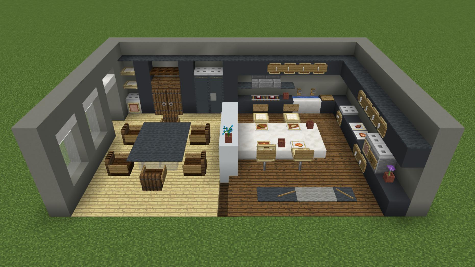 Kitchen #minecraft #minecraft kitchen  Minecraft room, Minecraft
