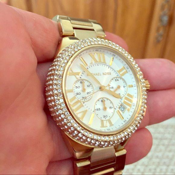 Michael Kors Gold and Swarovski Crystal Watch Michael Kors