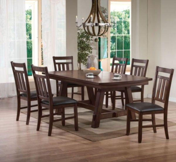 Acme Furniture  Luciano 7 Piece Dining Table Set In Dark Walnut Interesting Acme Dining Room Set Review