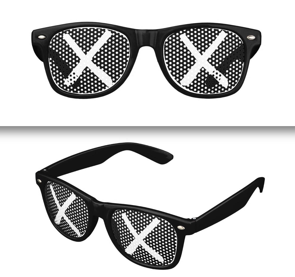 kaws x snoopy sunglasses double xx eyes graffiti art. Black Bedroom Furniture Sets. Home Design Ideas