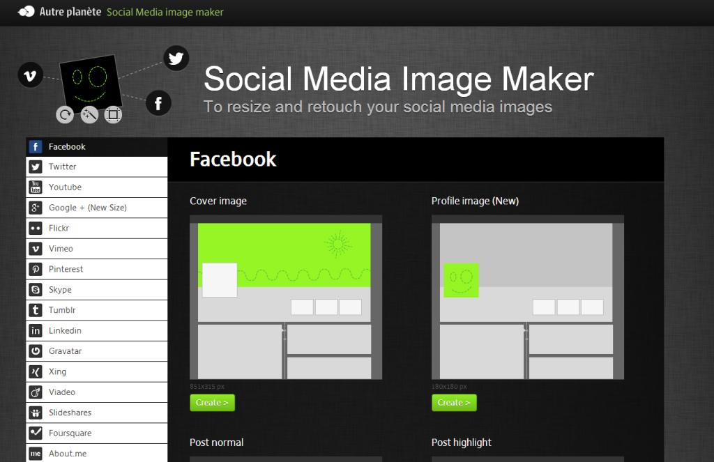 Profilbilder für soziale Netzwerke ganz einfach erstellen – mit dem Social Media Image Maker