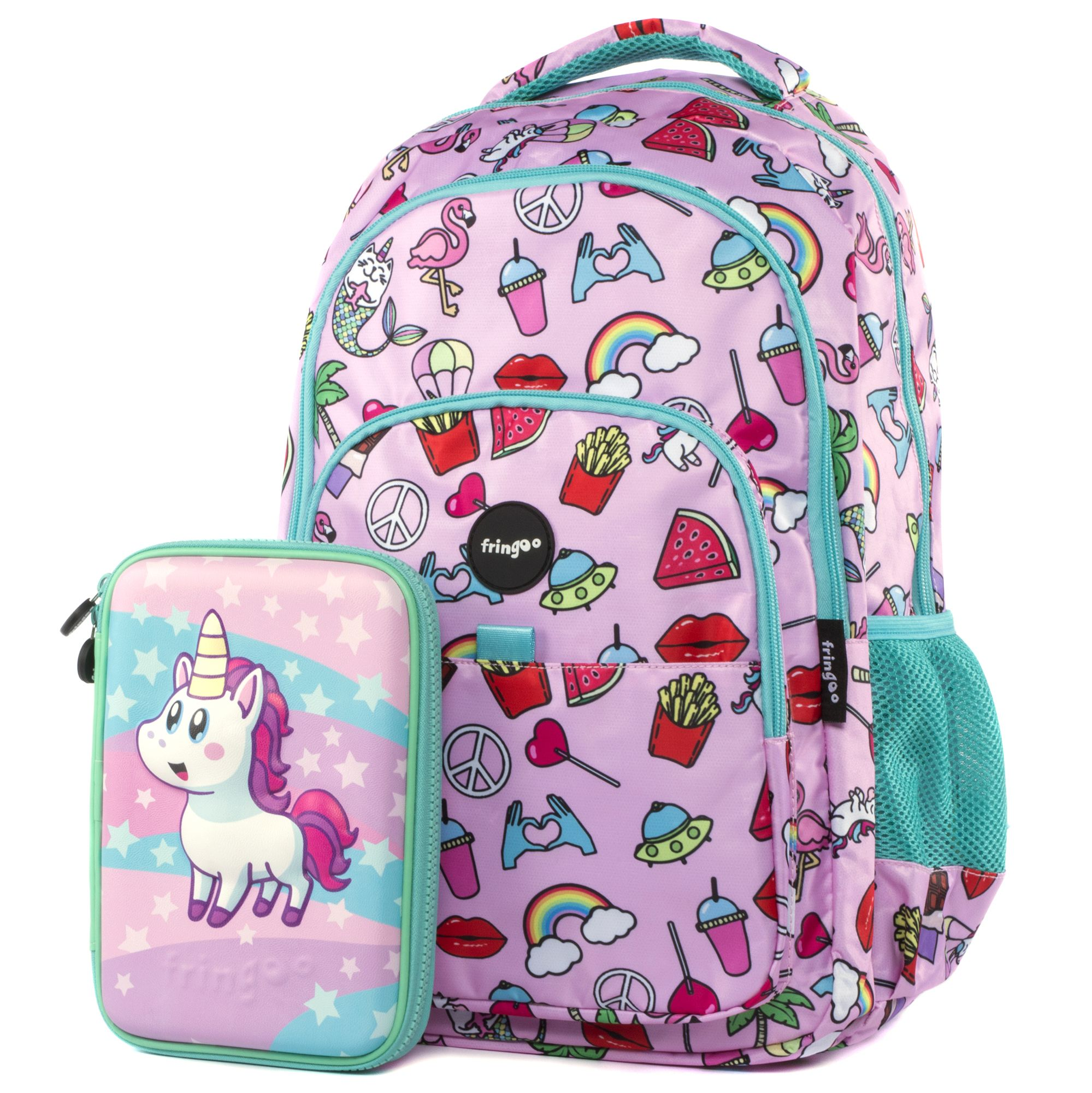 Multi Compartment Backpack - Doodles Pink in 2019  b10681852e151