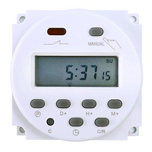 Favolcano Cn101 Dc 12v 16a Digital Lcd Power Programmable Timer Time Switch Relay To View Further For This Item Visit The Gadget World Timer Digital Timer