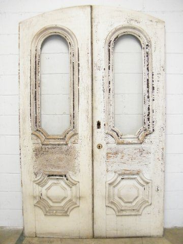 Columbus Architectural Salvage Victorian Arched Top Entry Doors