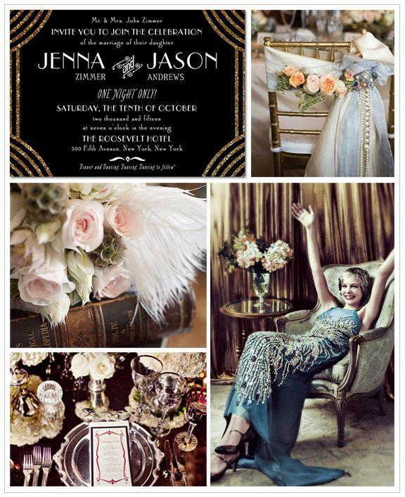 Great Gatsby Wedding Inspiration Board | Gatsby, Razzle dazzle and ...