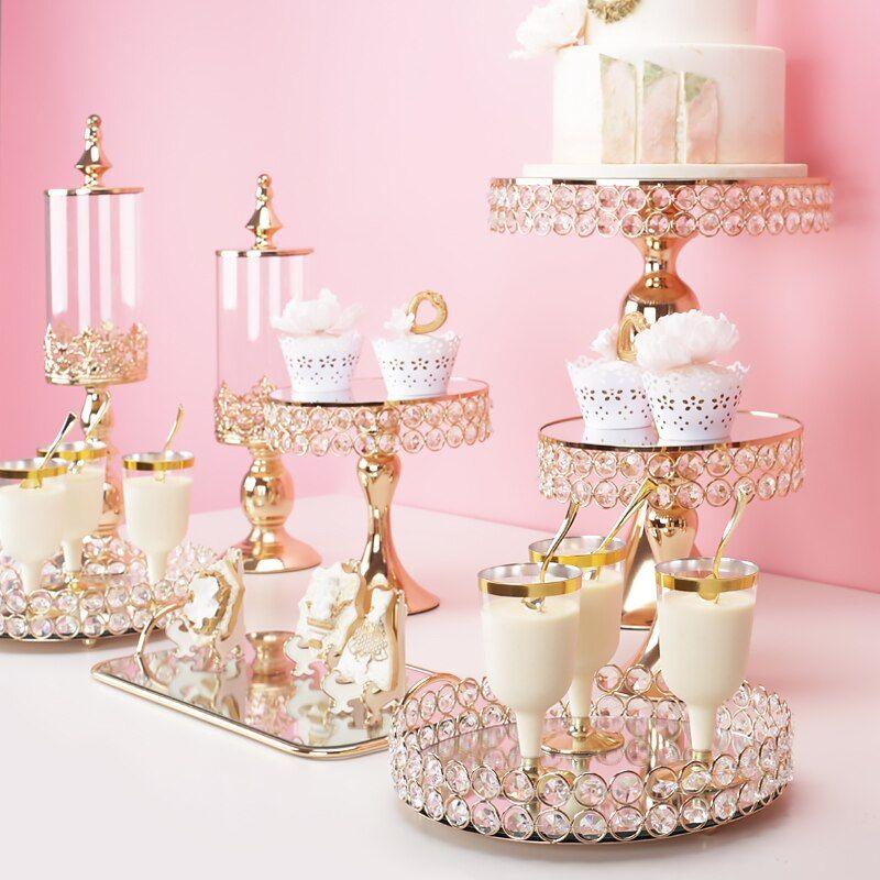 14pcs Wedding Cake Holder Metal Cupcake Stand Birthday Party Display Tower Set
