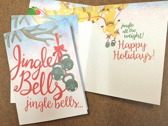 Jingle bells kettlebell humor fitness christmas card crossfit gift jingle bells kettlebell humor fitness christmas card crossfit gift holiday greeting card m4hsunfo
