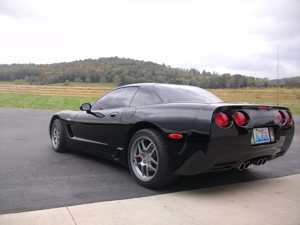 2003 Black Corvette Z06 Back