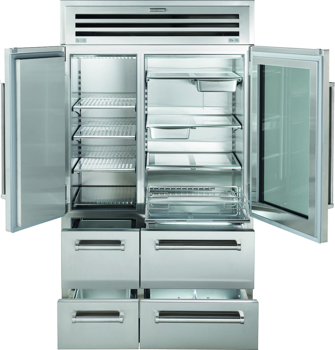 48 Pro Refrigerator Freezer With Glass Door Glass Door Glass Door Lock Sliding Glass Door