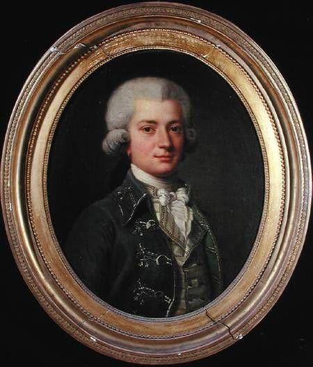 Portrait De Louis Charles Joseph Gravier Vicomte De Vergennes 1765 1821 Ecole Francaise Du Xviiie Siecle