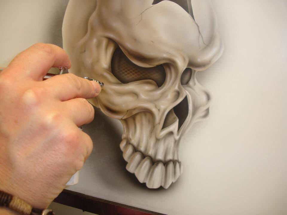 Картинки аэрография череп