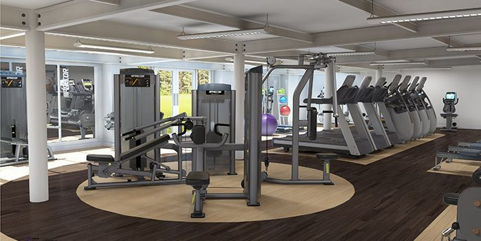 Greatly designed commercial gym. | Great Commercial Gym Ideas ...
