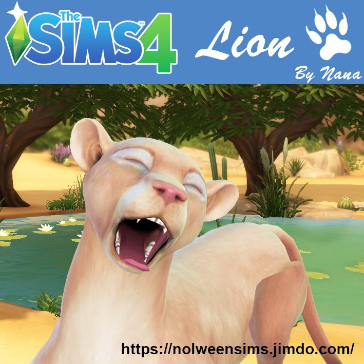 Lion By Nana Sims Pets Sims 4 Sims 4 Pets