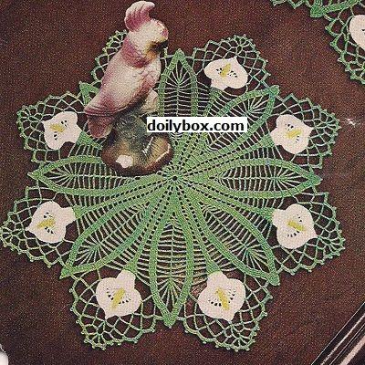 Free Calla Lily Crochet Doily Pattern | Häkelsachen | Pinterest ...