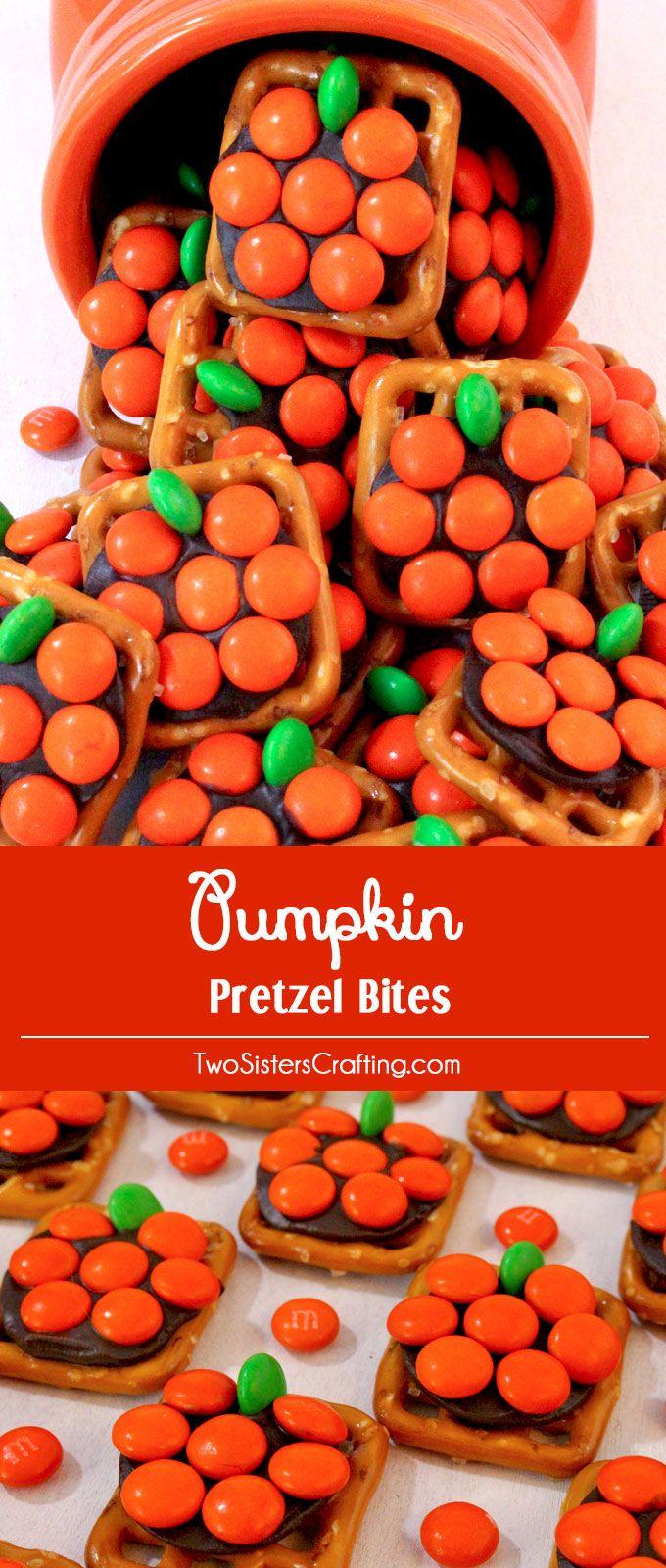 Pumpkin Pretzel Bites - Two Sisters