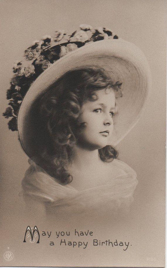 Beautiful girl, pretty bonnet, vintage birthday, cute girl, vintage beauty,  sepia