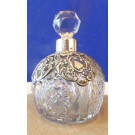 Flacon A Parfum Ancien Verre Et Argent Flacons Flacons De Parfum Flacon Vide