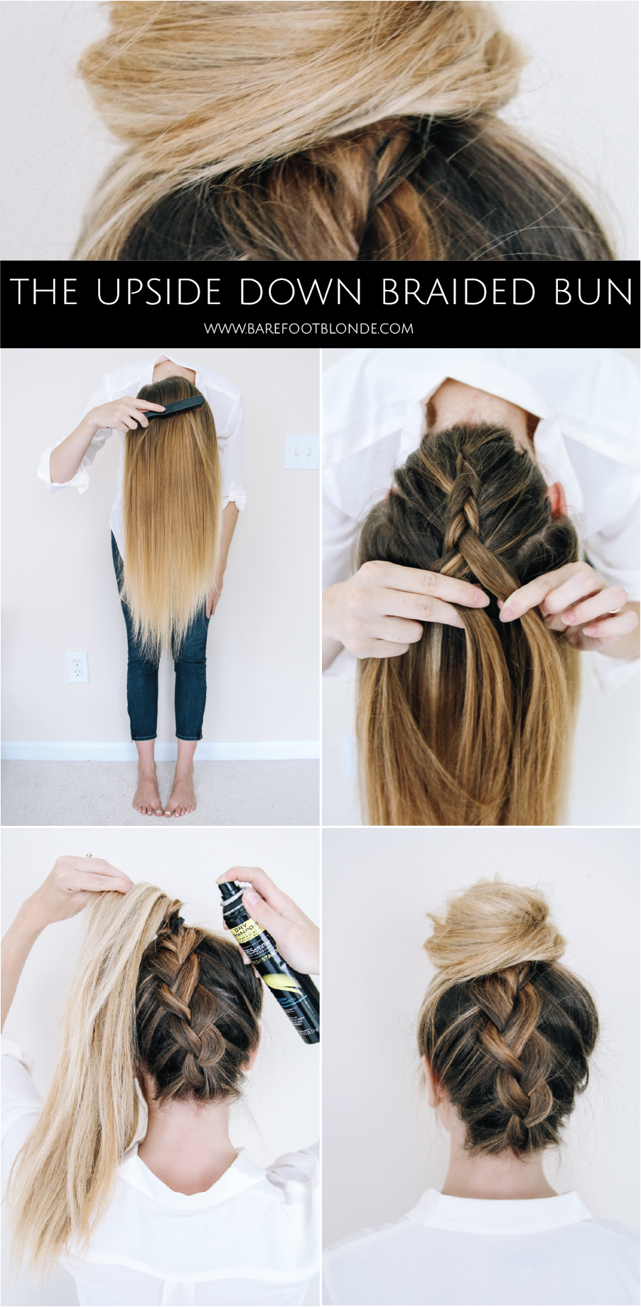 Upside Down Braided Bun | Peinados, Cabello y Trenza