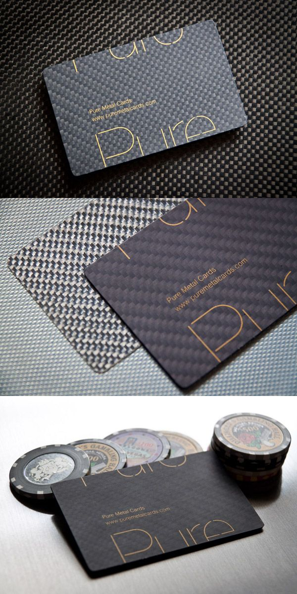 Carbon Fiber Business Cards by Pure Metal Cards | Business cards ...