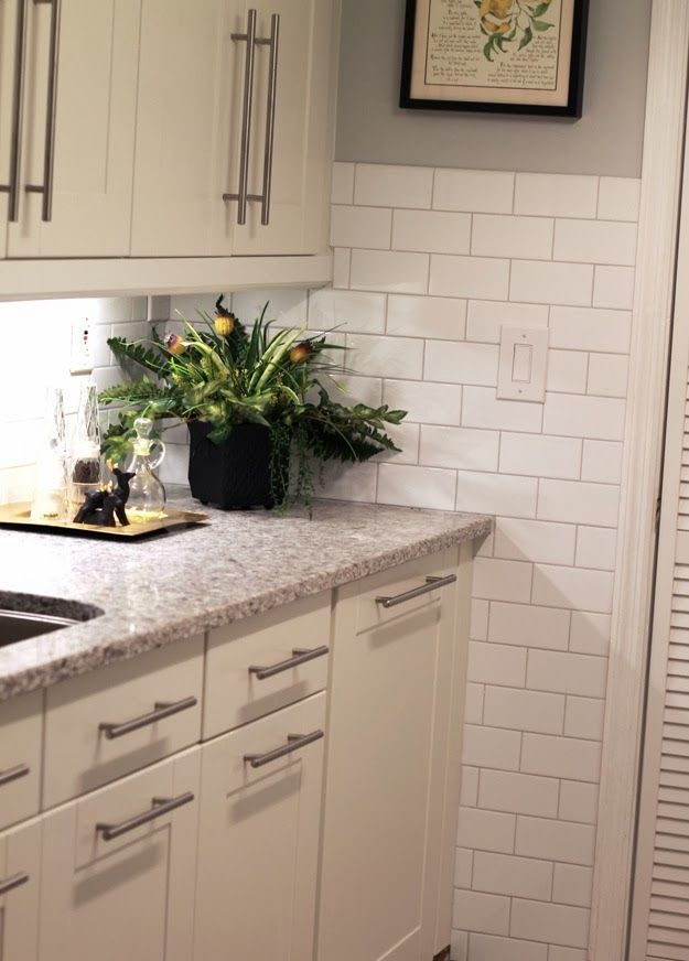 Atlantic Salt Quartz Countertop Option With White Cabinets With