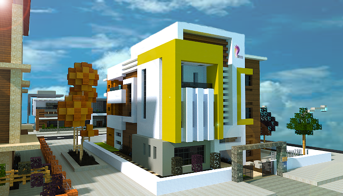 New town house I made in minecraft jar9 modern houses and