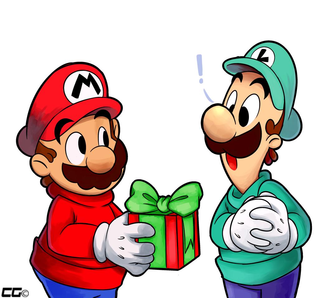 Christmas Mario Png.Merry Christmas Mario And Luigi By Crazedg Deviantart Com On