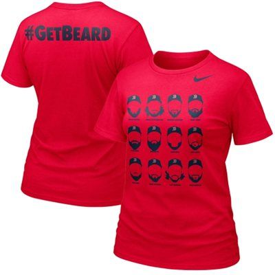 sports shoes fbd2d 1334c Nike Boston Red Sox Ladies Get Beard T-Shirt - Red ...