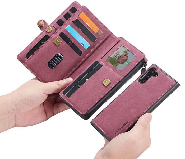 CaseMe Samsung Galaxy Note 10 Multi-Functional Wallet Magnetic Case Red
