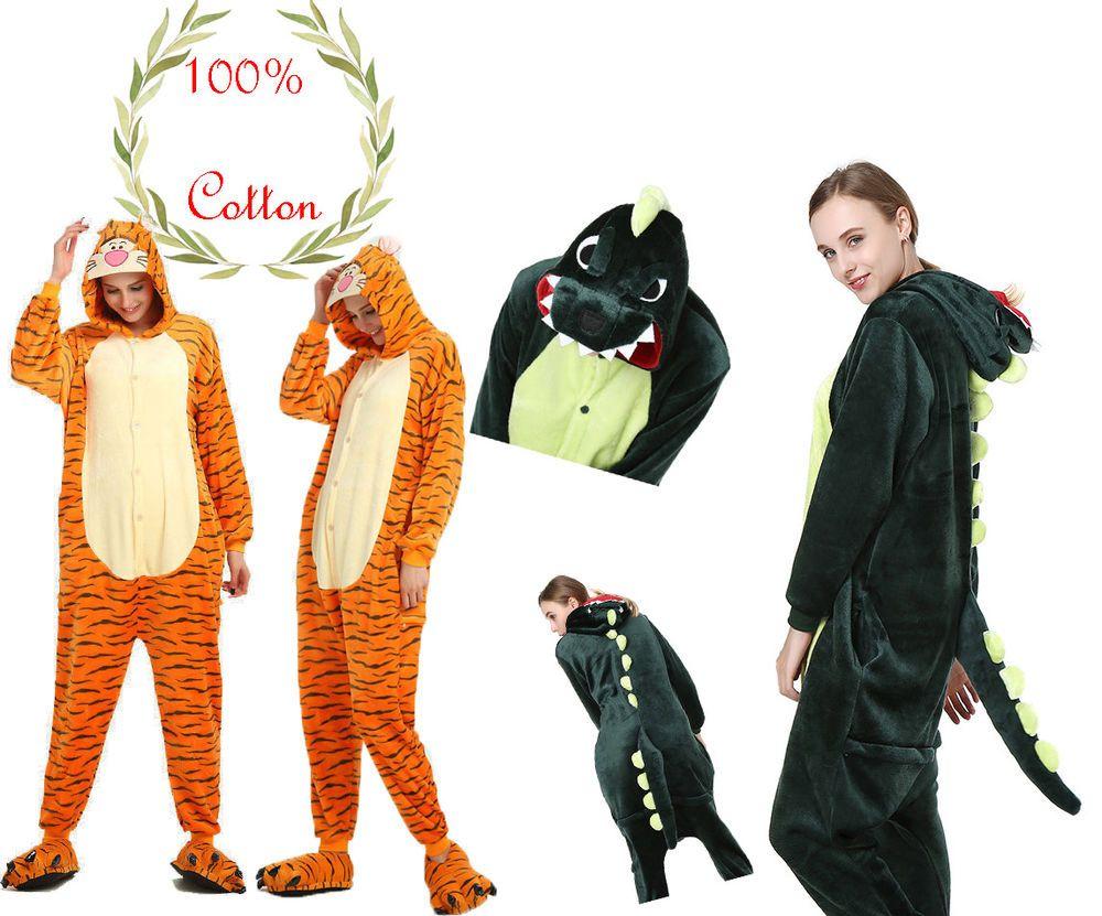 Unisex Adult Kids Pajamas Cosplay Costume Sleepwear Animal