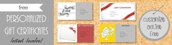 gift certificate templates gifts pinterest gift certificate