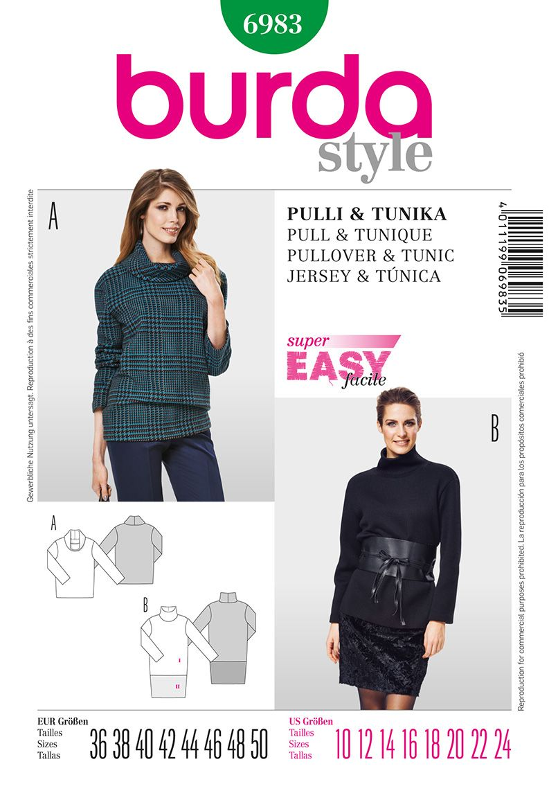 Simplicity Creative Group - Burda Style Pullover & Tunic | To sew ...
