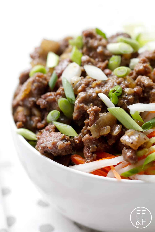 Vietnamese Beef Bowl Recipe Healthy Meat Recipes Beef Ground Beef