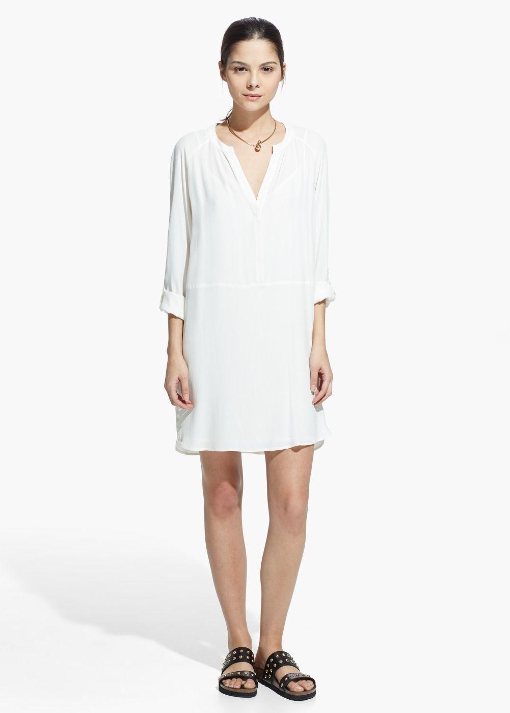 Gomlek Elbise Kadin Mango Turkiye Gomlek Elbise The Dress Kadin