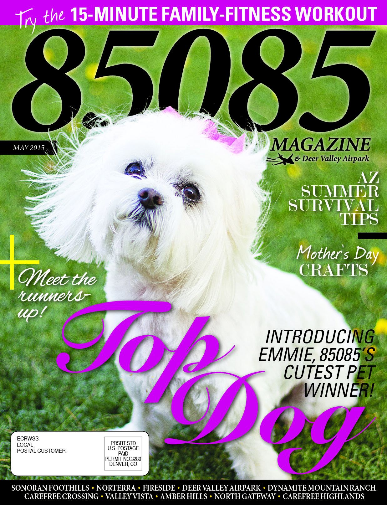 The May '15 issue of 85085 Magazine, produced by The Media Barr, Inc.  www.85085magazine.com www.themediabarr.com