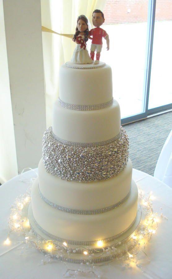 Blinged Up Wedding Cake - Cake by Alison Inglis