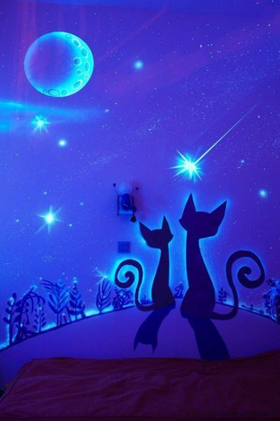 glow in the dark bedroom decoration posters