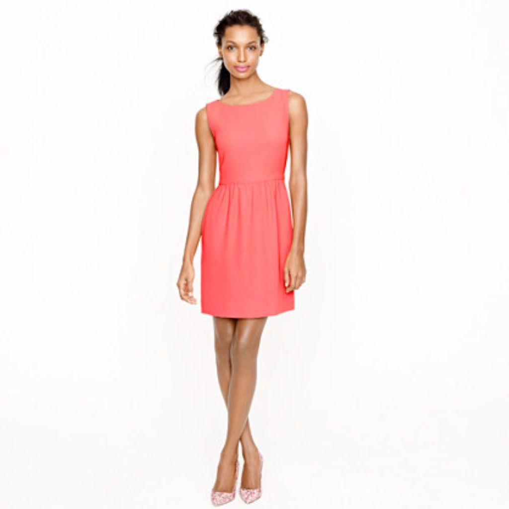 J. Crew Coral Pink Camille Sleeveless Dress