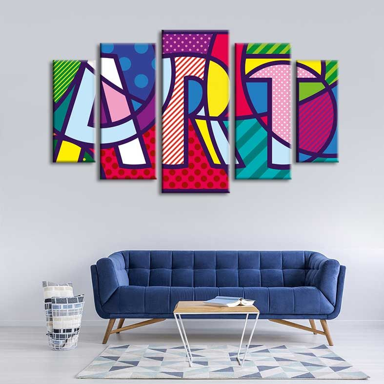 Pop Art Vector Illustration Print On Canvas Wall Art Decor Canvas Art Wall Decor Pop Art Art Furniture
