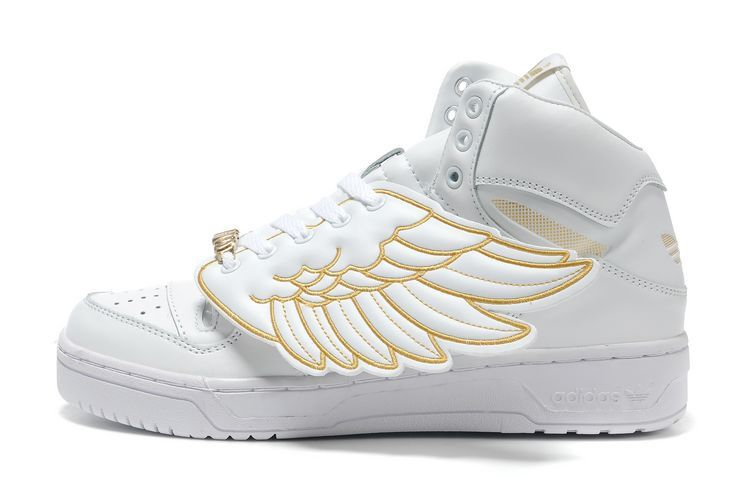 save off 4e261 42d94 On Fashion and Things Adidas Jeremy Scott Wings, Scott White, Gold Sneakers,  Wing