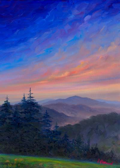 Parkway Glow Oil Painting On Canvas Landscape Paintings Oil Painting Landscape Landscape