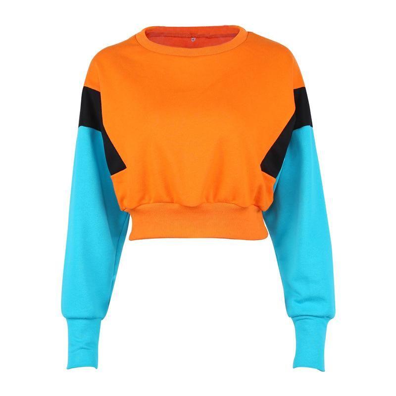 Oversized orange Harajuku sweater with