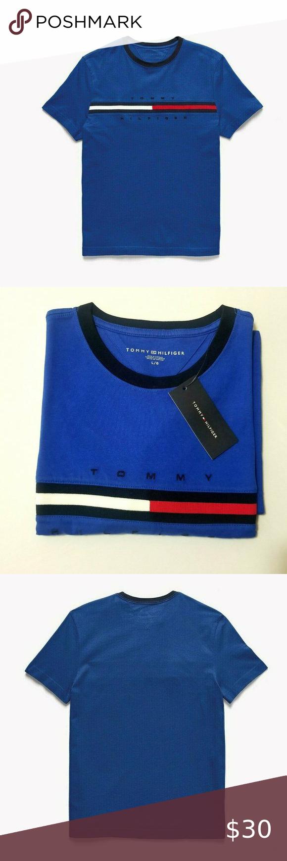 Tommy Hilfinger Essential Flag Logo T Shirt Short Boutique In 2020 Shirts Clothes Design Flag Logo