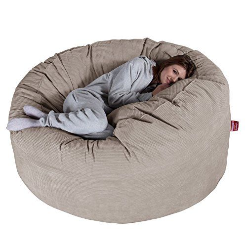 990079d2e8 LOUNGE PUG® - Pinstripe Cord - CLOUDSAC - Huge Memory Foam GIANT Bean Bag  SOFA