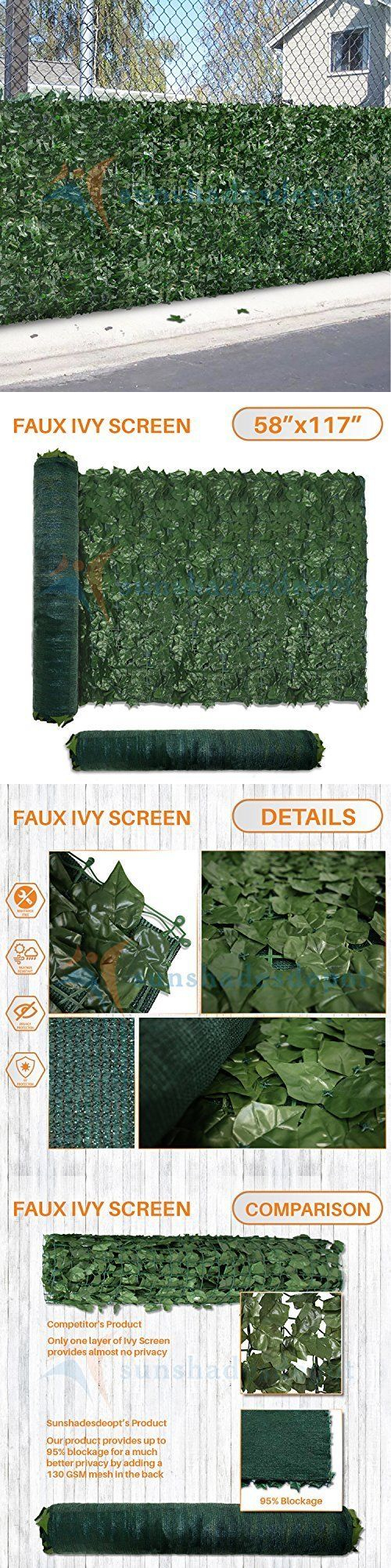 Privacy screen for chain link fence ebay - Privacy Screens Windscreens 180991 Artificial Leaf Panel Private Fence Realistic Security Xl Screen Yard Home