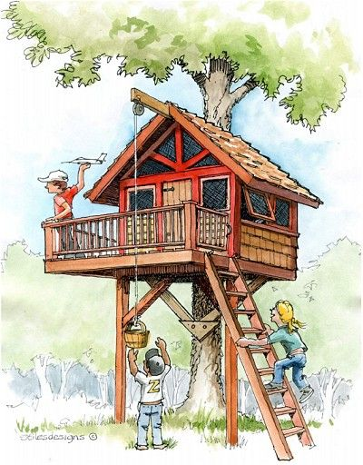 Downloadable Treehouse & Playhouse Plans Plans For Treehouses And Playhouses