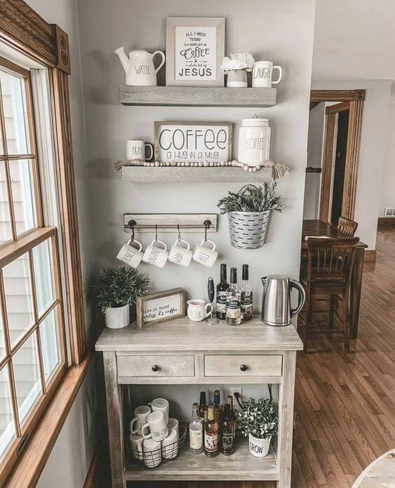 30+ Best Home Coffee Bar Ideas for All Coffee Lovers #coffeebarideas