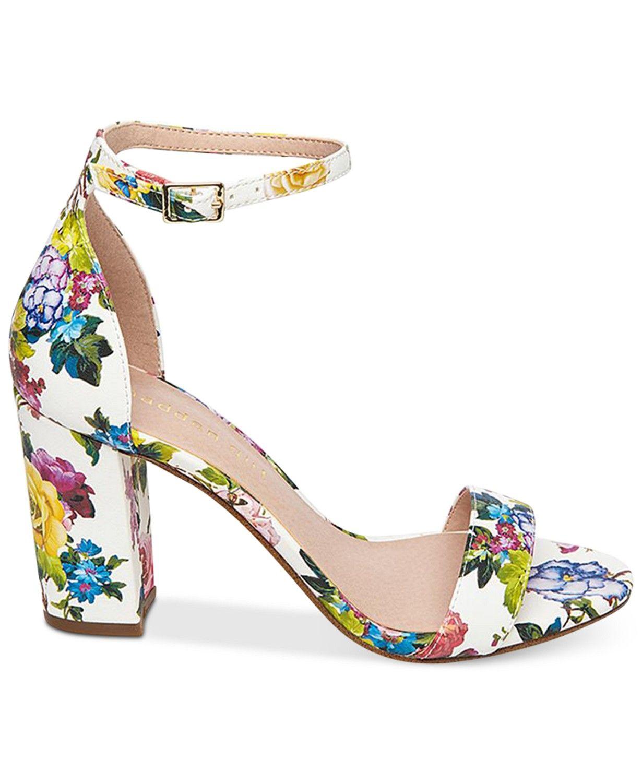 23f3572f79e5 Madden Girl Bella Two-Piece Block Heel Sandals - Sandals   Flip Flops -  Shoes - Macy s